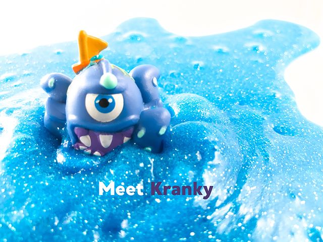 Our cranky sea monster, Quick Bio: - Hangry when he doesn't eat 🍫 - Avid teeth-brusher - Feared by all - Loves his mama . . . Tune in tomorrow at 10 am for an a Insta story how-to on our ocean slime🌊🙌🏼