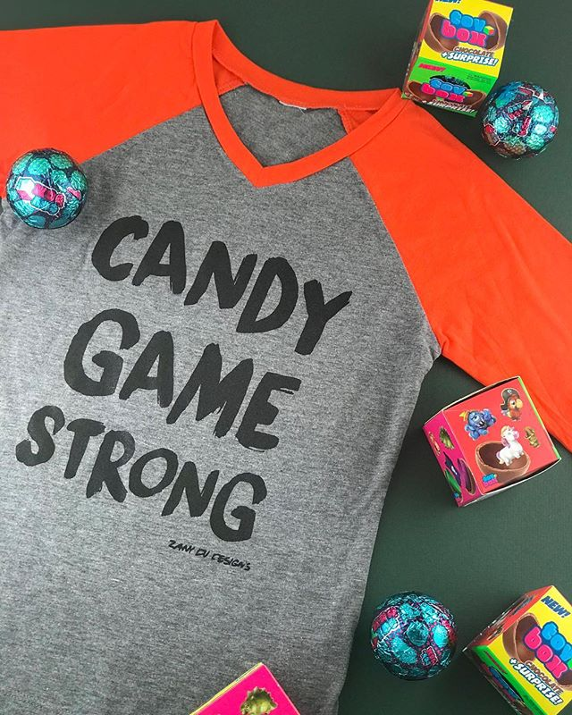 Holiday Season has taken over and our candy game is STRONG 💪🏼 Want one of these awesome T's for yourself? Head over to @zanydudesigns 🎁