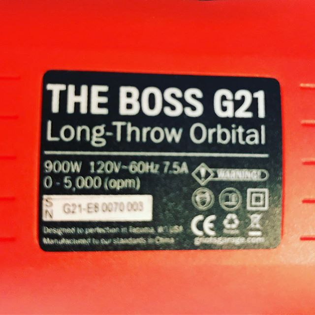 Was time for a little upgrade. The 15 is a great machine but this 21 will provide a lot of flexibility in pad size and deliver great results! #griotsgarage #jcdetails #detailing #theboss
