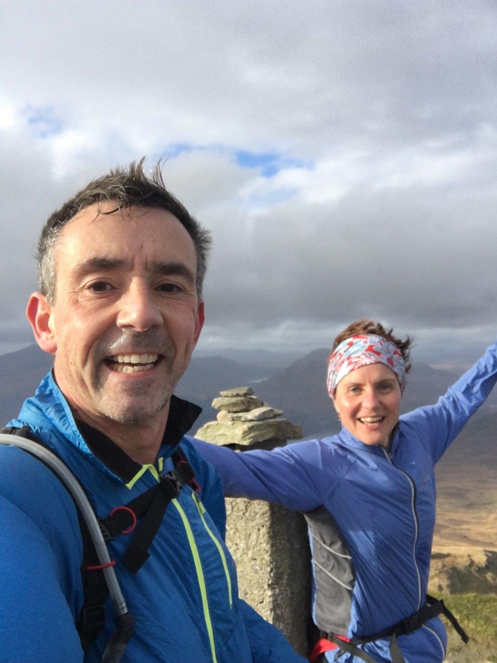 Ben Lomond Summit in the gusty wind