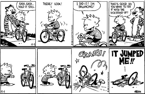 Calvin and Hobbes bike