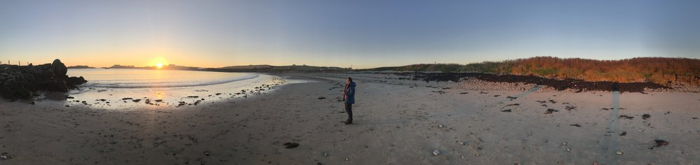 Rhoscolyn Beach at sunset