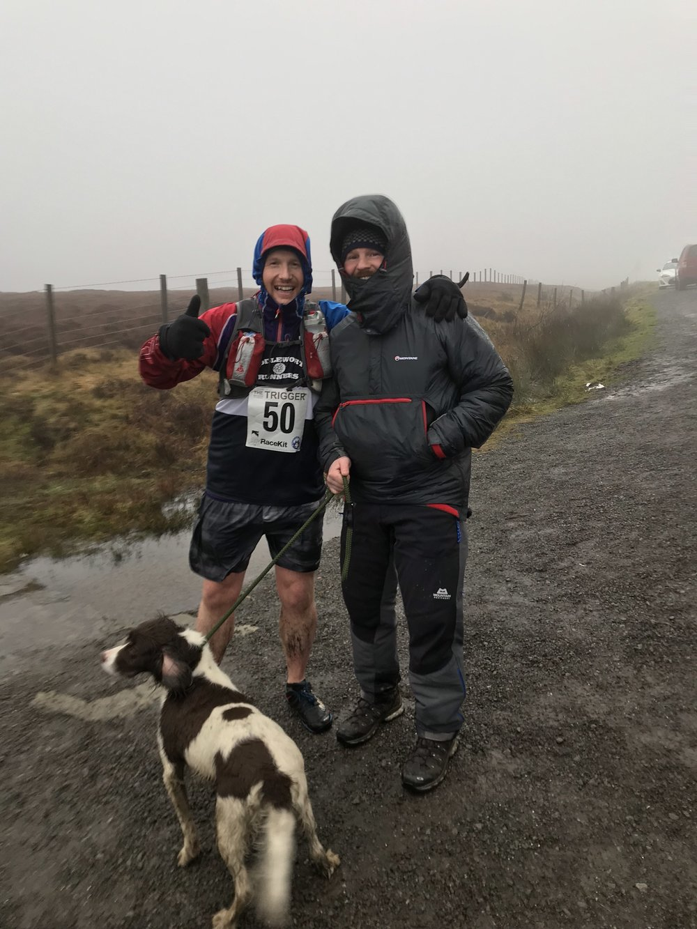 Ryan and Poppy offering support at the Snake Pass