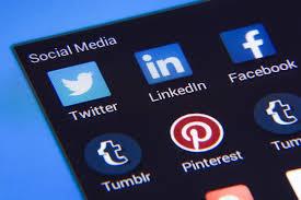 Blue Social Media Logos
