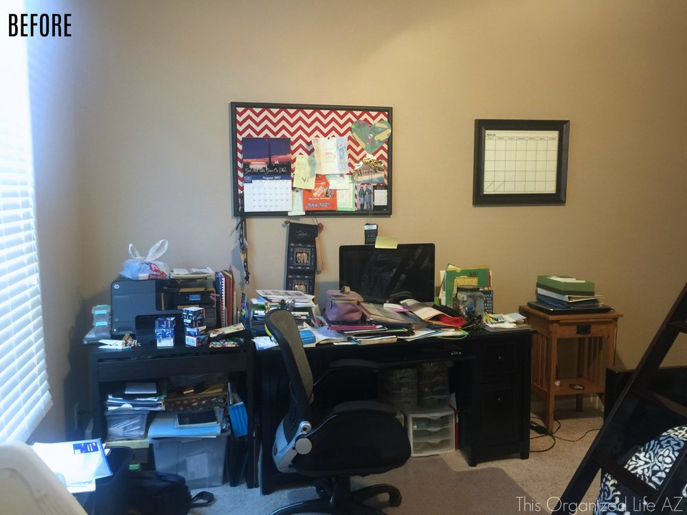 Before AZ professional organizers transformed home office