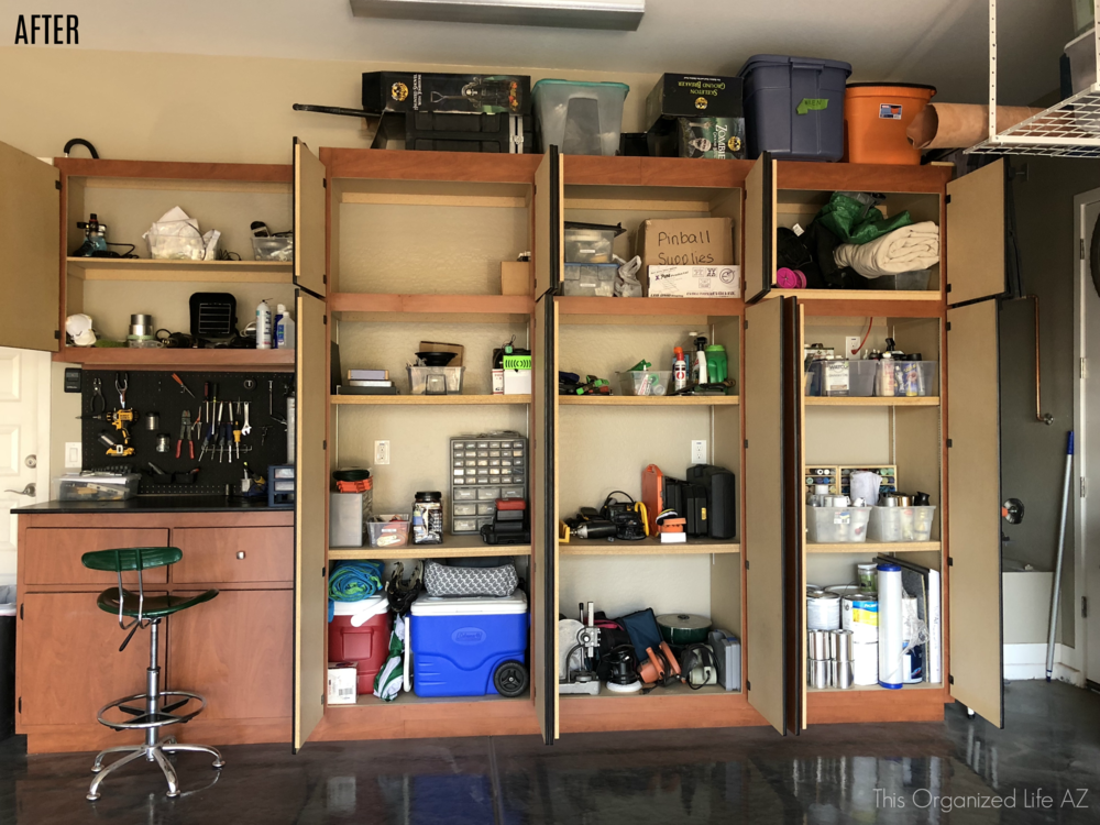 Garage organization by AZ professional organizer This Organized Life AZ