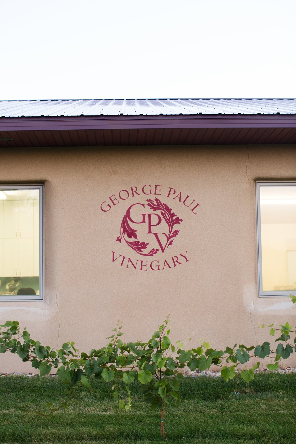 GPV logo painted on the stucco