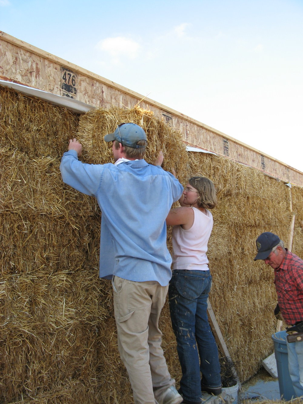 Eric & Emily putting in the last bale!
