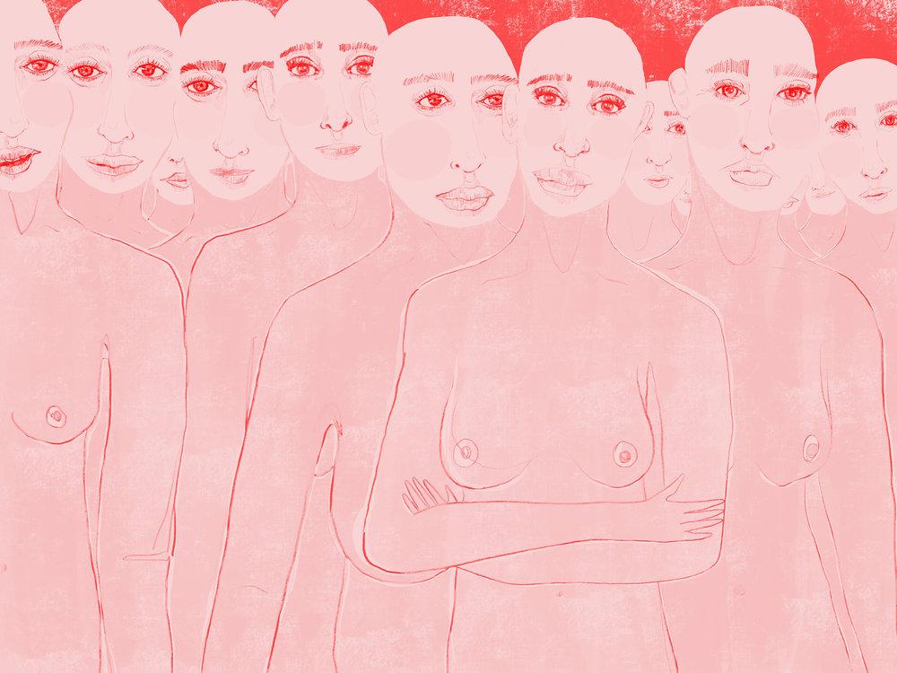 A group of women not apologizing, Chuva Featherstone