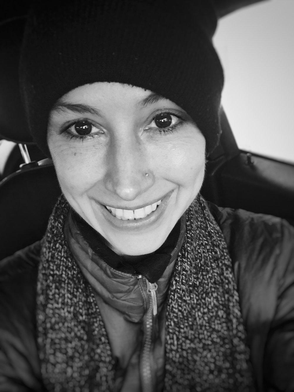 Impromptu selfie after a winter lake plunge
