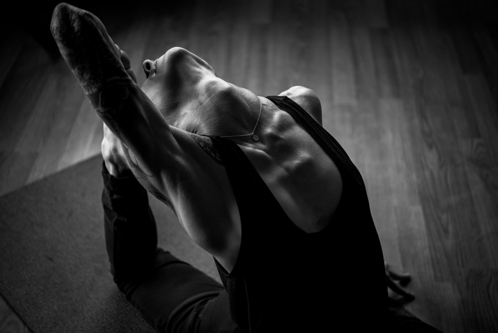 On my yoga mat, heart open, photo by    Bobbi Barbarich