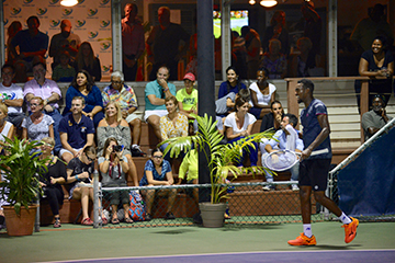 Darian King during an exhibition match in Cayman