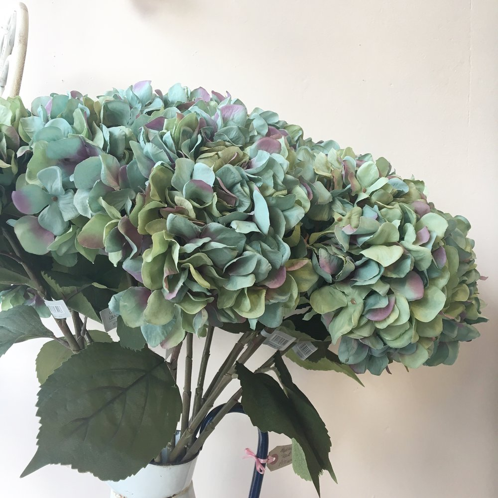 Artificial Hydrangeas - Available to buy from Bow Boutique