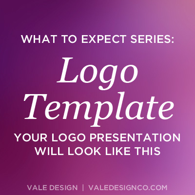 What to Expect Series: Logo Template - Vale Design
