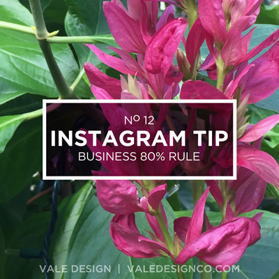 Vale Design _ Instagram Tip - Business 80% Rule