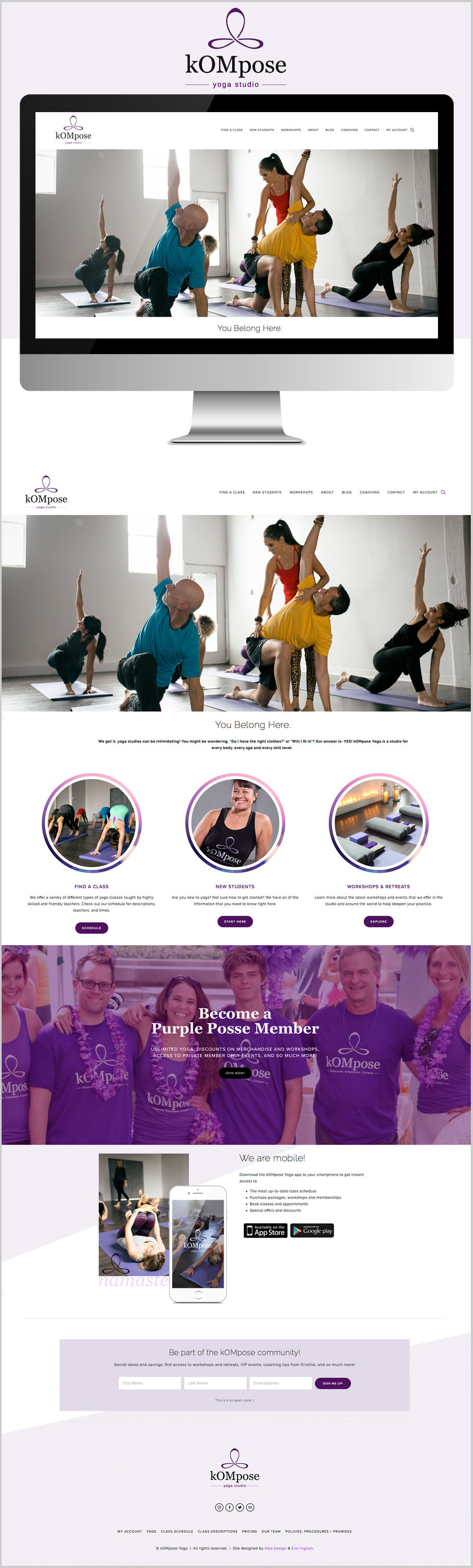Vale Design - Website - kOMpose Yoga