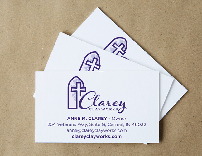 Vale Design - Clarey Clayworks Business Cards