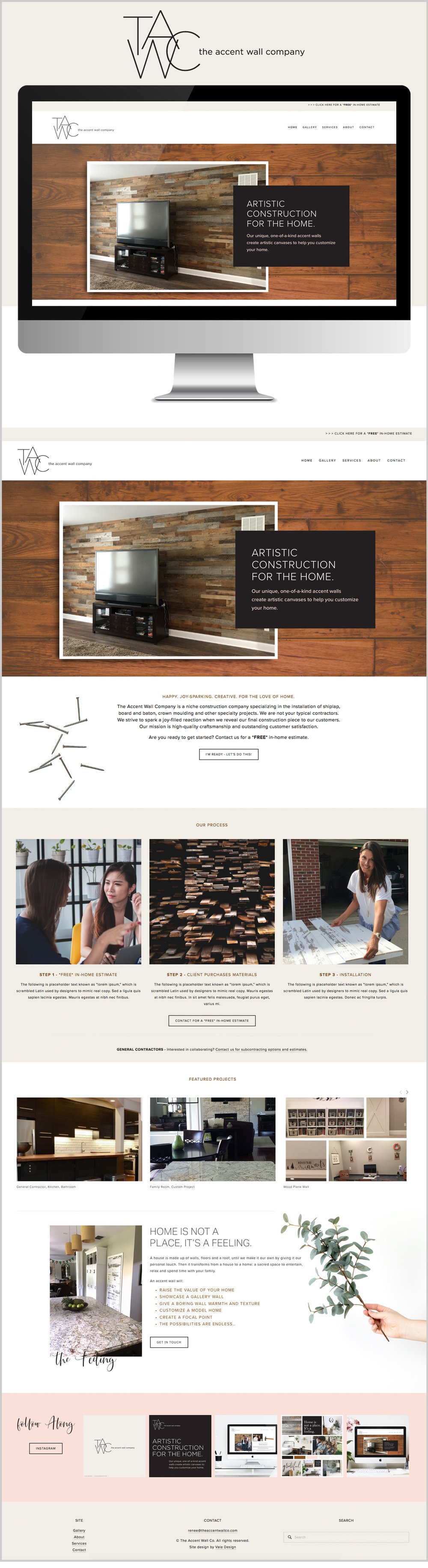 Vale Design - Website - The Accent Wall Co