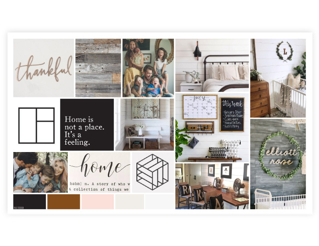 Vale Design - The Accent Wall Co moodboard brand logo