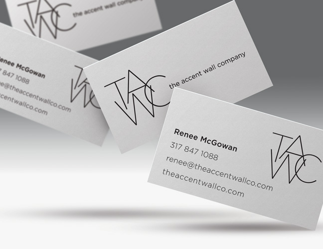 Vale Design - The Accent Wall Co Business Cards