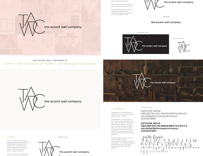 Vale Design - The Accent Wall Co Brand Style Guidelines