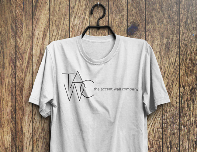 Vale Design - The Accent Wall Co Uniform Shirt Design