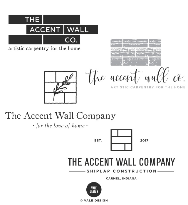 Vale Design -The Accent Wall Co brand logo design