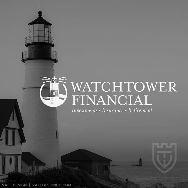 "FINAL LOGO + SECONDARY LOGO for Watchtower Financial - This logo focuses on the lighthouse, or watchtower, being the guide and sentinel through the rough financial waters for their clients. - The secondary mark is a shield, also the tiny window shape in the lighthouse, which represents strength and trust and the letters ""W"" and ""T"" for Watchtower. • So excited to be launching this brand and new @squarespace website very soon! STAY TUNED! • Vale Design • #valedesignportfolio #logoconcept #illustratorlogos #graphicdesign #branddesign #graphicdesigner #branding #logos #squarespace #squarespacetemplate #squarespacedesigner #webtips #websiteinfo #designerlife #brand #brandidentity #web #webdesign #creativeminds #goalgetter #dowhatyoulove #creativeatheart #savvybusinesswomen #womeninbusiness #smallbusiness #dailyhustle #womenwhowork #websiteinfo #designerlife #femaleentreprenuer"