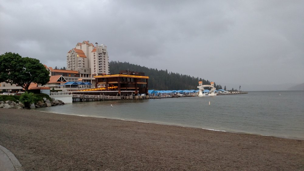 Coeur d'Alene in some light rain, still pretty though.