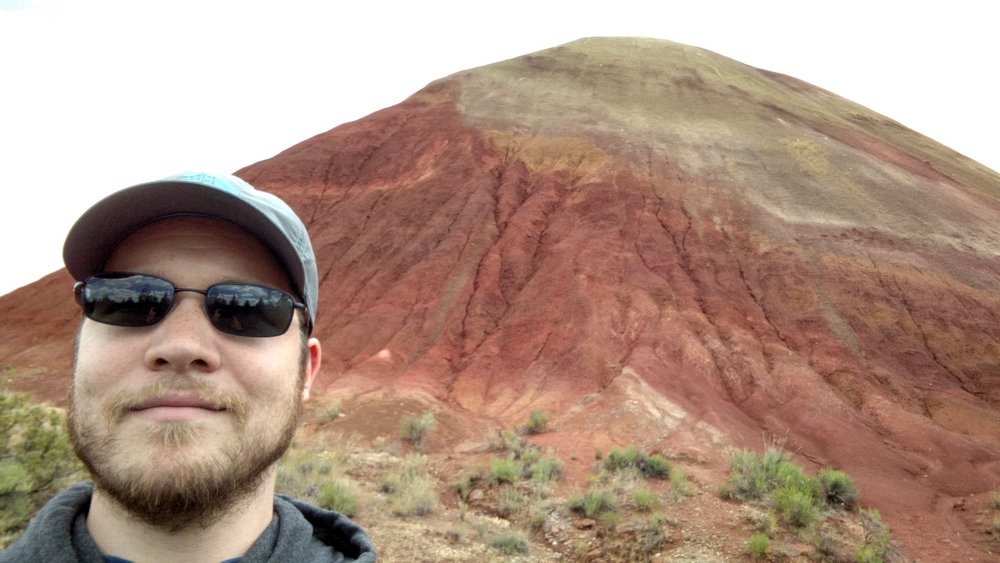 Red Rock in the Painted Hills.