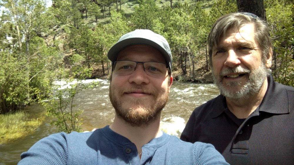With my dad in Estes Park.