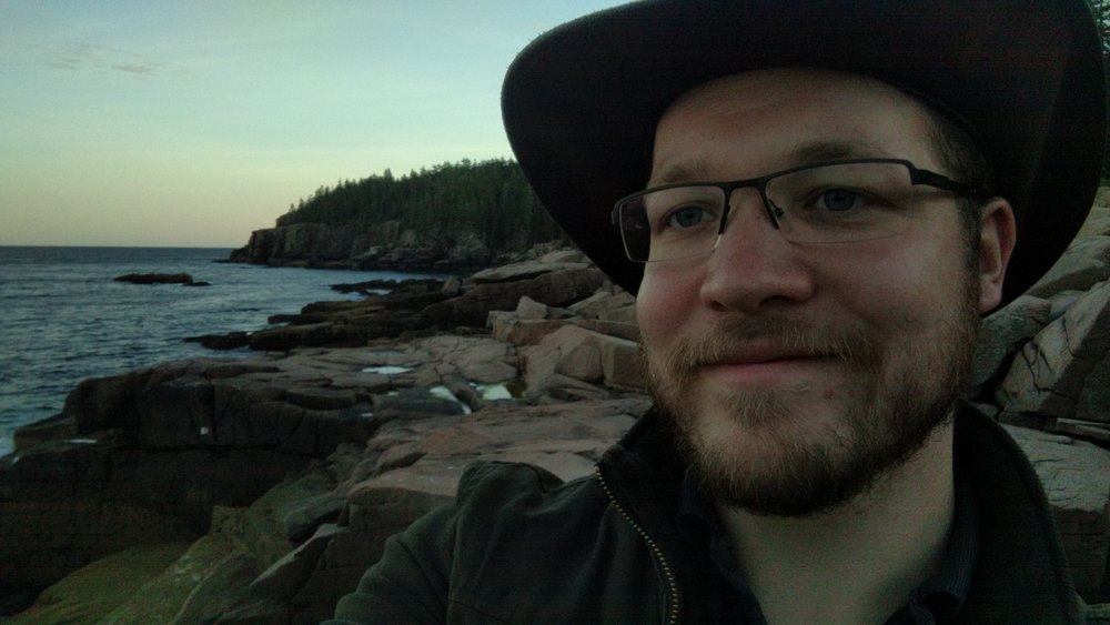 Me at Boulder Beach in Acadia (I should probably learn how to look at the lens)