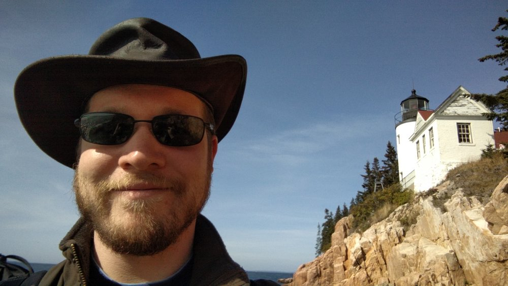 Me at the Bass Harbor Head Light.