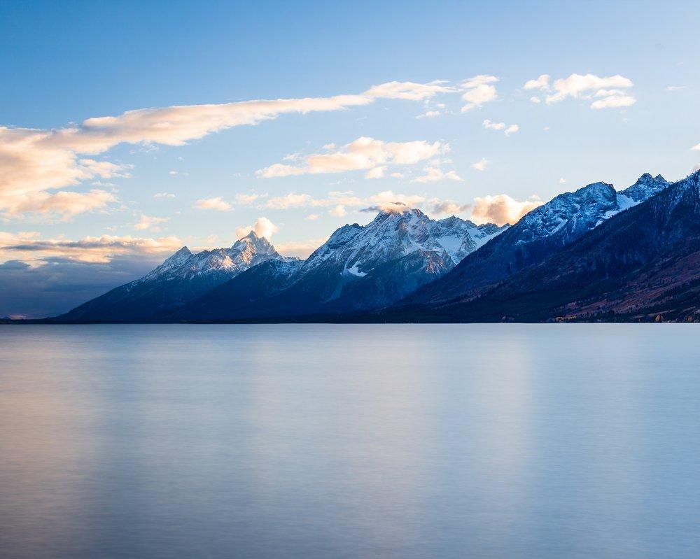 """Begin Again"" - The Grand Tetons from across Jackson Lake"