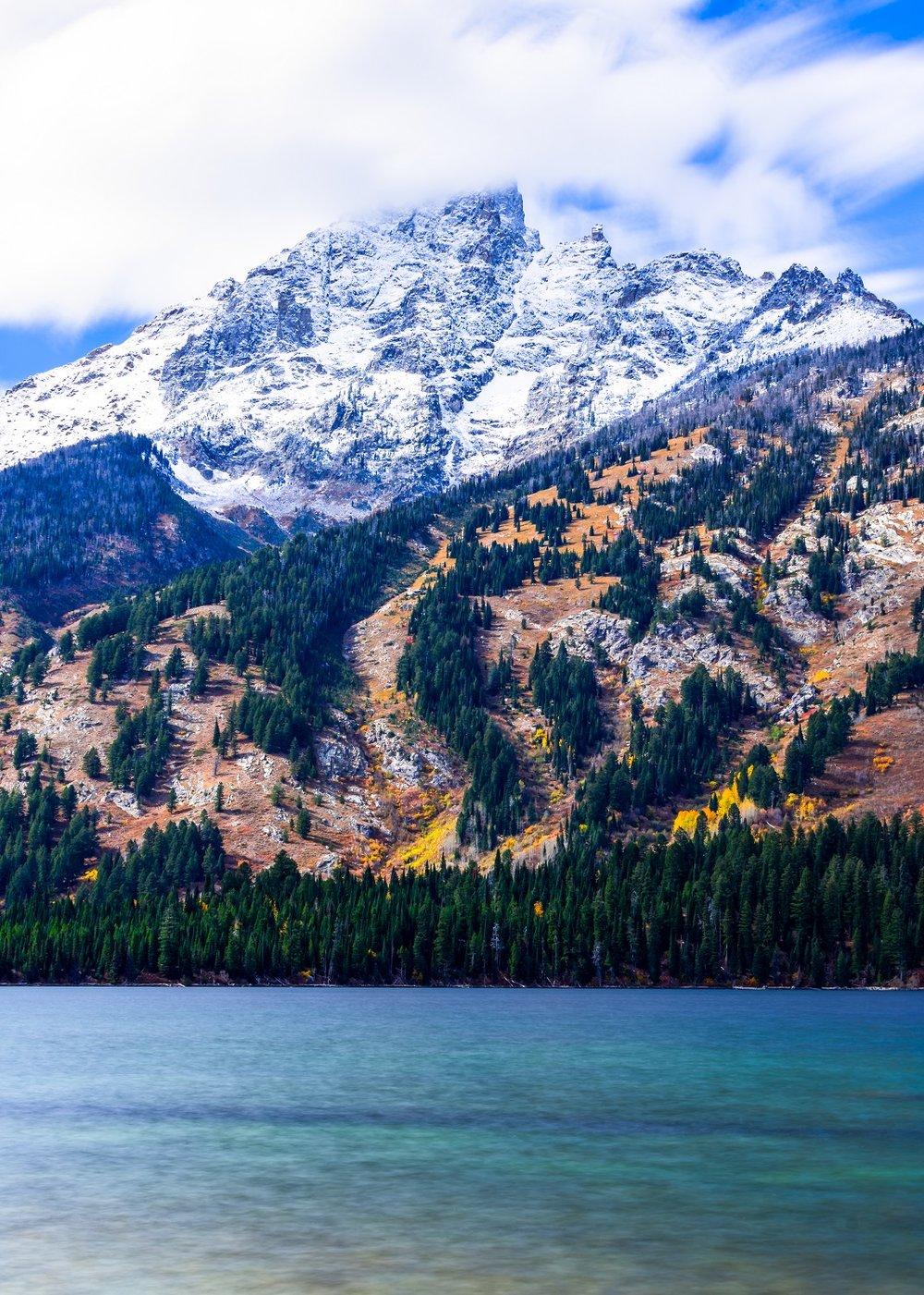 """Introspection"" - Grand Teton from across Jenny Lake."