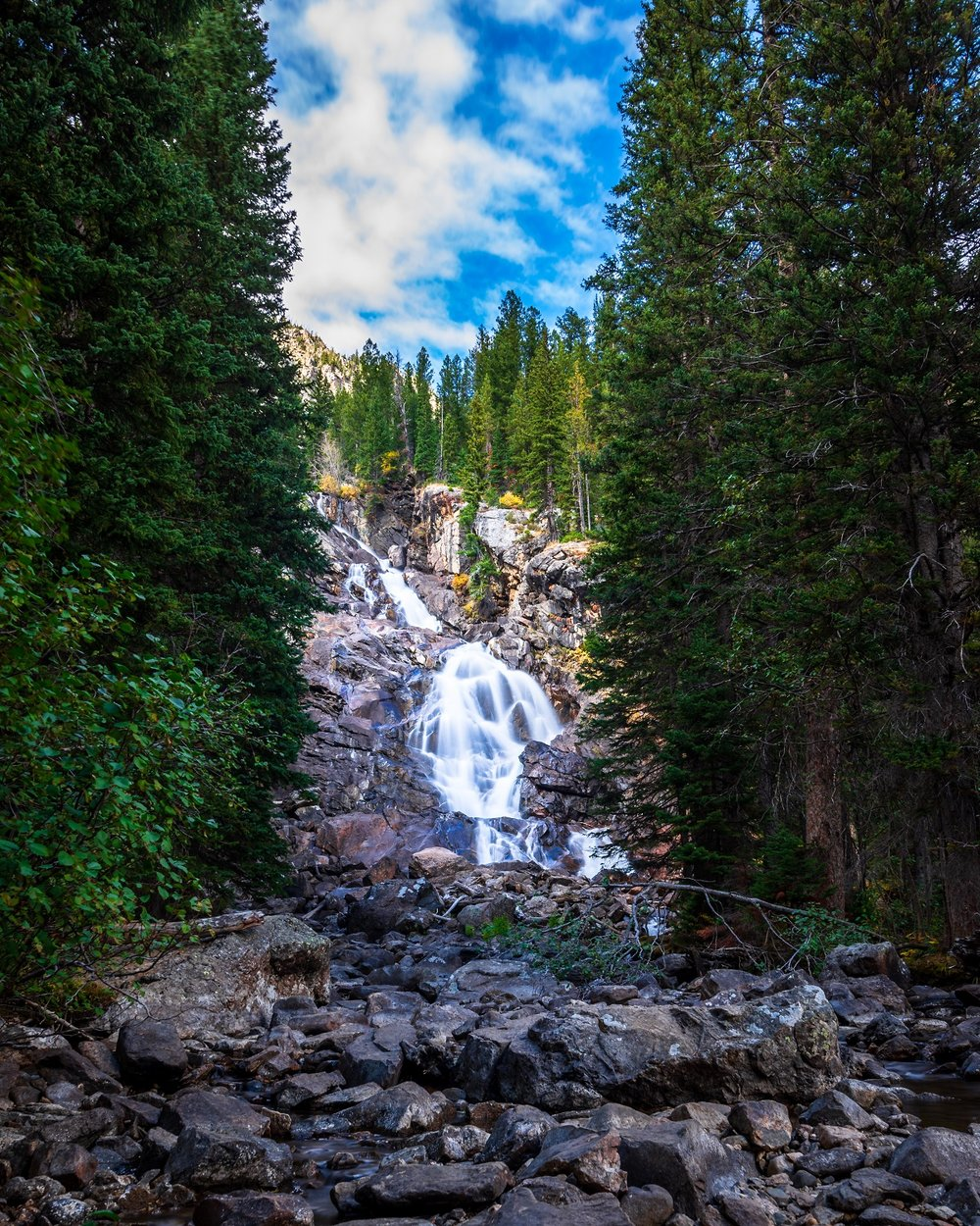 """Hidden Falls"" - Off of a trail near Jenny Lake."