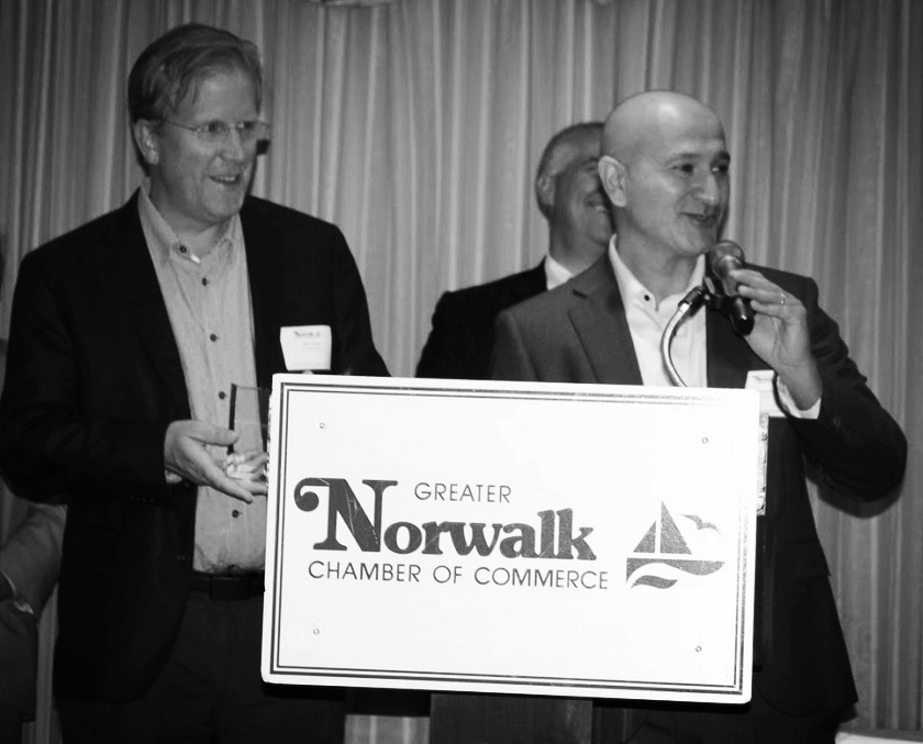 Innovation & Technology Award - The Greater Norwalk Chamber of Commerce presented Potoo with the Innovation & Technology Award.