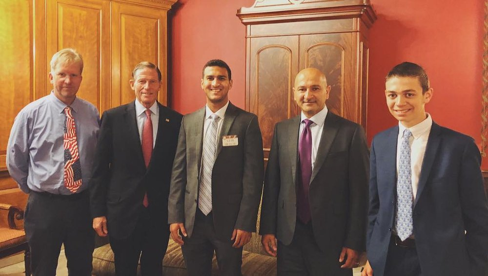 Visit to the Capitol! - Invited to the U.S. Senate with Senator Richard Blumenthal and Ambassador Max Rosenberg.