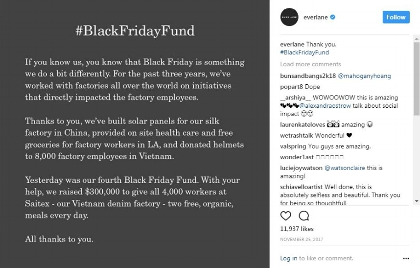 everlane black friday fund
