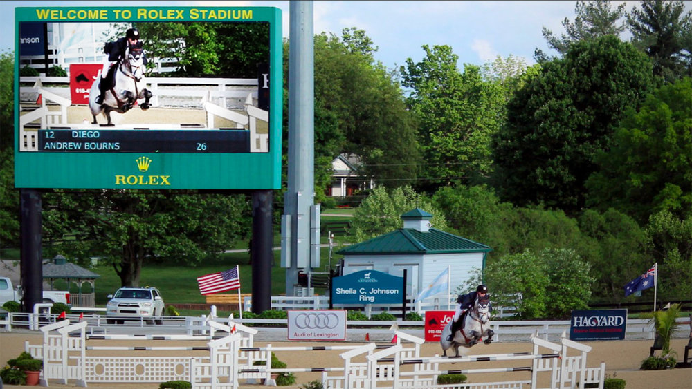 Video, timing, scoreboard at Rolex Stadium, Kentucky horse Park, Lexington, KY