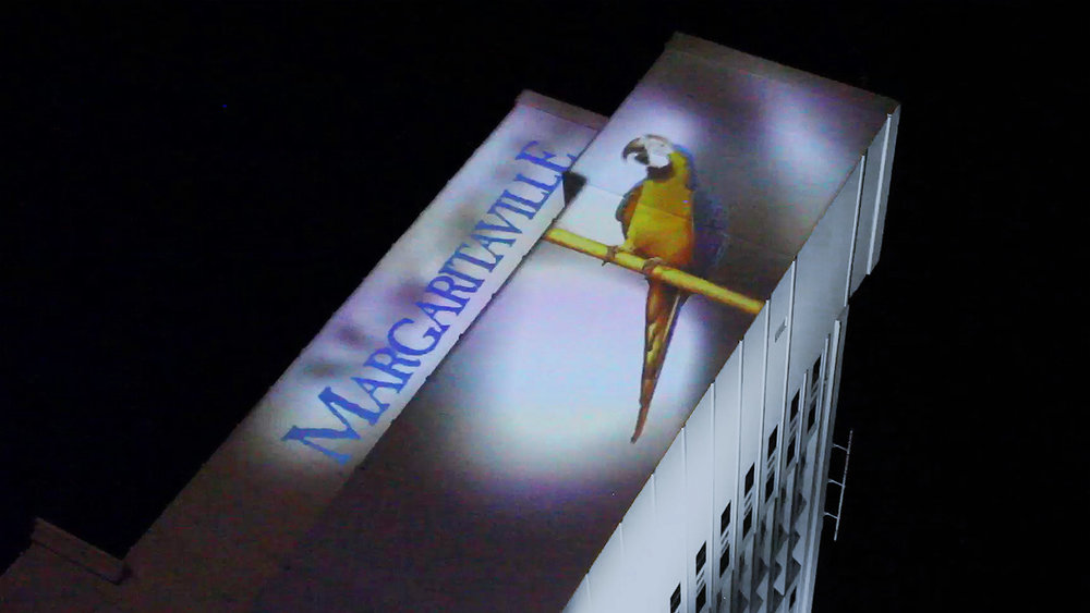 Large- scale, Permanent, exterior projections at Margaritaville, Biloxi, MS