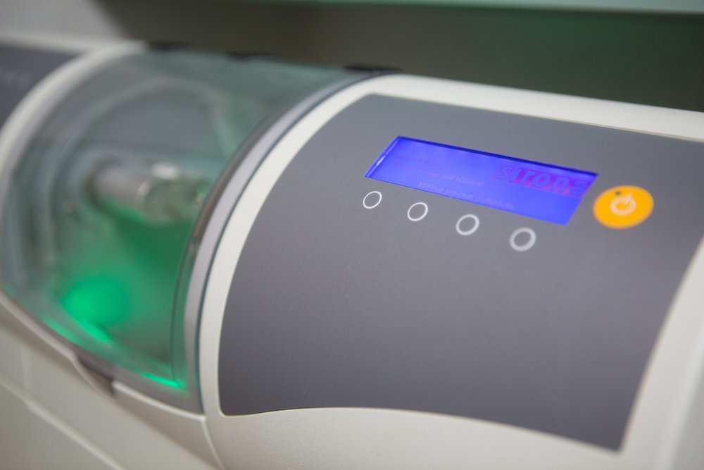 Our office's CEREC machine makes permanent crowns will our patients wait.