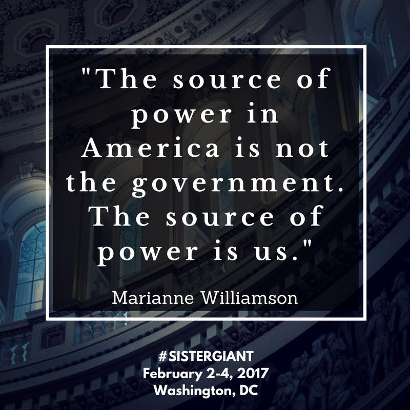 Marianne Williamson Sister Giant Quote