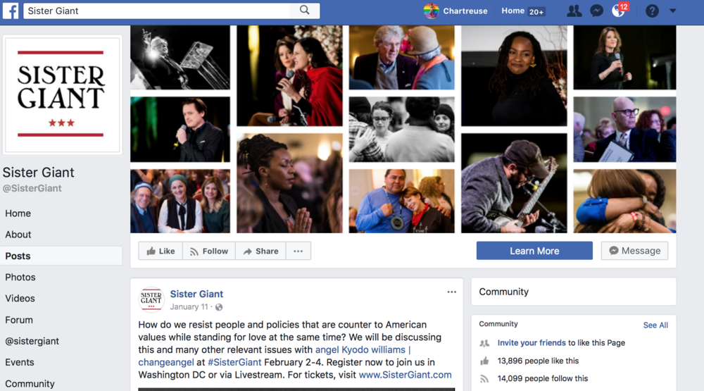 Why yes, that is your First Lady of Astrology with the prayer hands on the SisterGiant Facebook page banner ;)