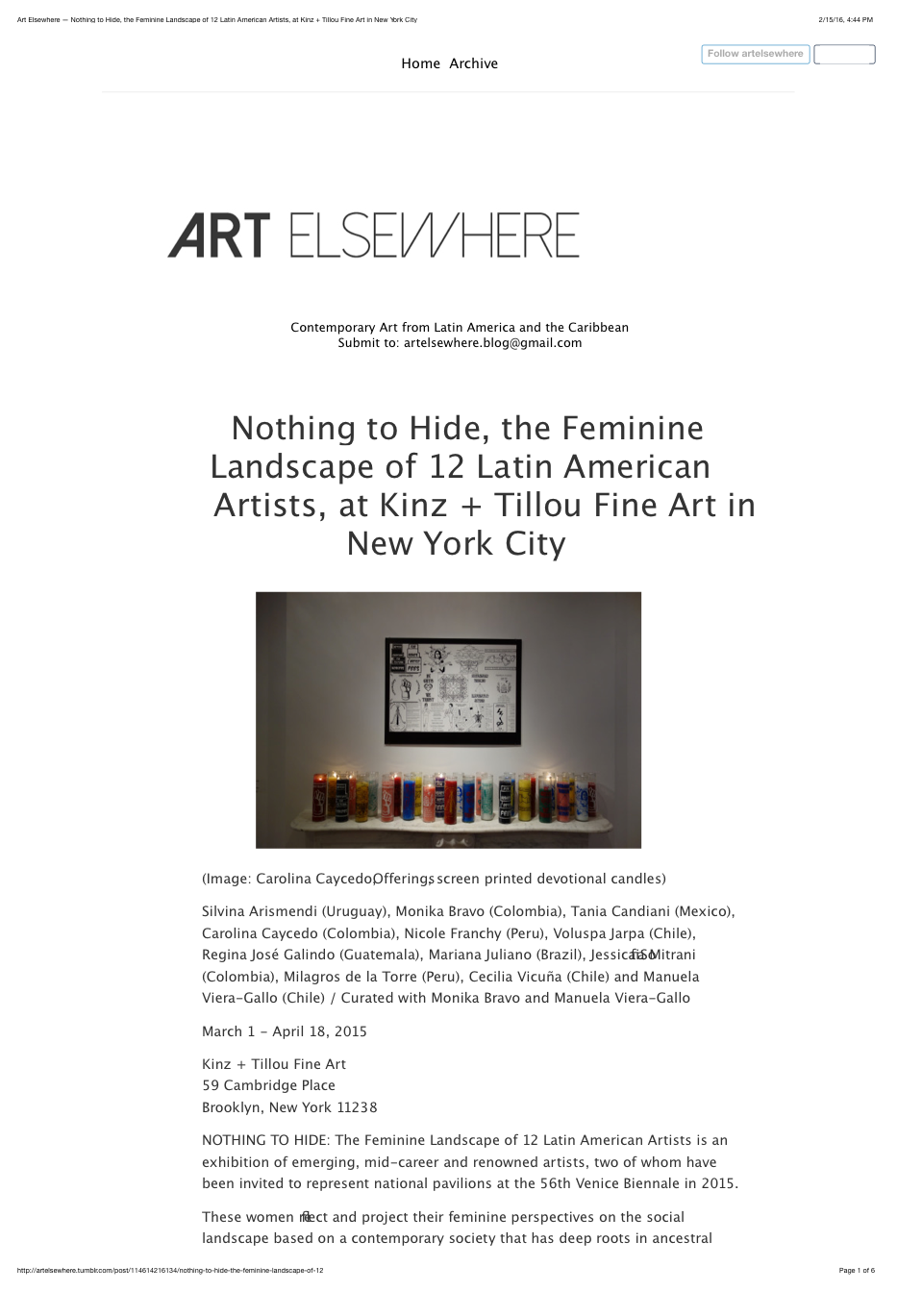 2015_Art Elsewhere — Nothing to Hide, the Feminine Landscape of 12 Latin American Artists, at Kinz + Tillou Fine Art in New York City.png