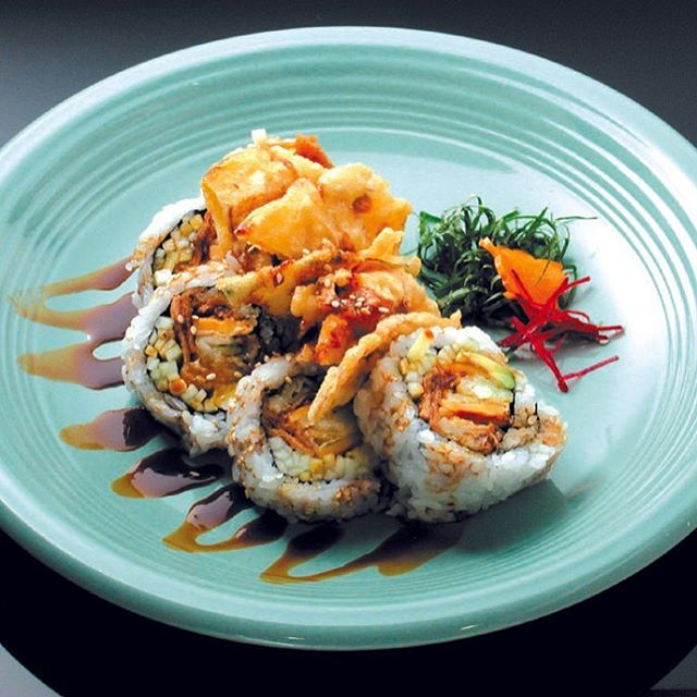 you won't regret trying our #salmontempuraroll 🤘 it's like a #californiaroll with #salmontempura and drizzled with #eelsauce 😋