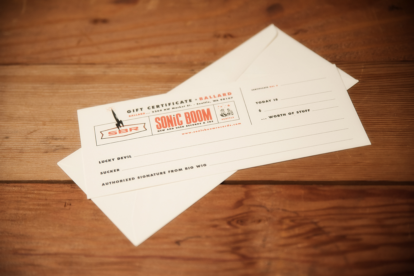 Gift Certificate Sonic Boom Records