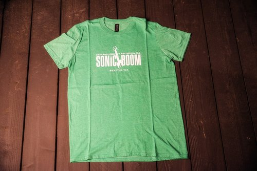 192d773f47 Heather Green T-Shirt — Sonic Boom Records