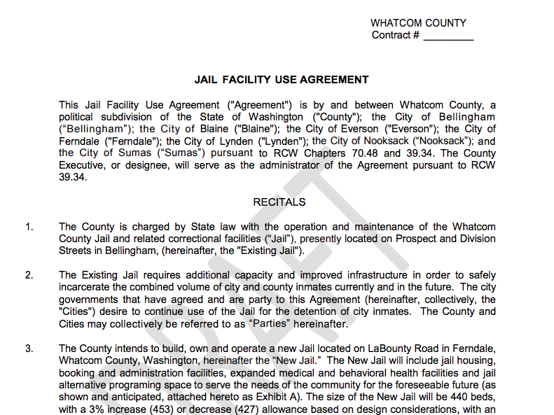 Jail Facility Use Agreement
