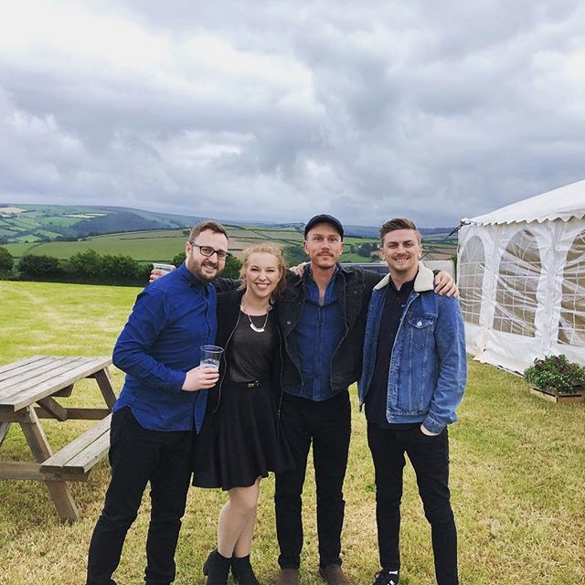 Gorgeous location for Gethin and Sophie's wedding! . . . . #wedding #weddingband #marquee #marqueewedding #livemusic #band #gig #giglife #bandmates #exmoor #exmoornationalpark #countryside #view #fields #greenery #smiles #nature #denim #doubledenim
